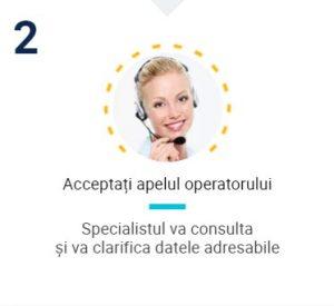 Acceptați apelul operatorului
